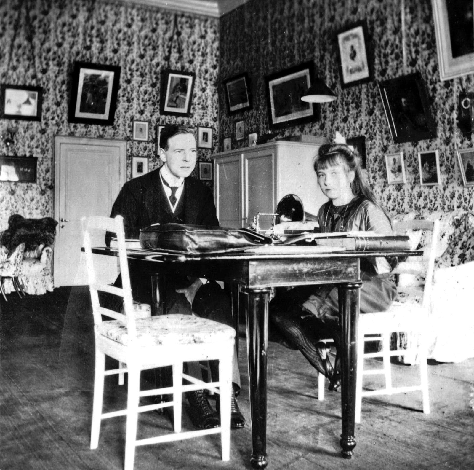 Grand Duchess Anastasia Nikolaevna and Charles Sidney Gibbs.