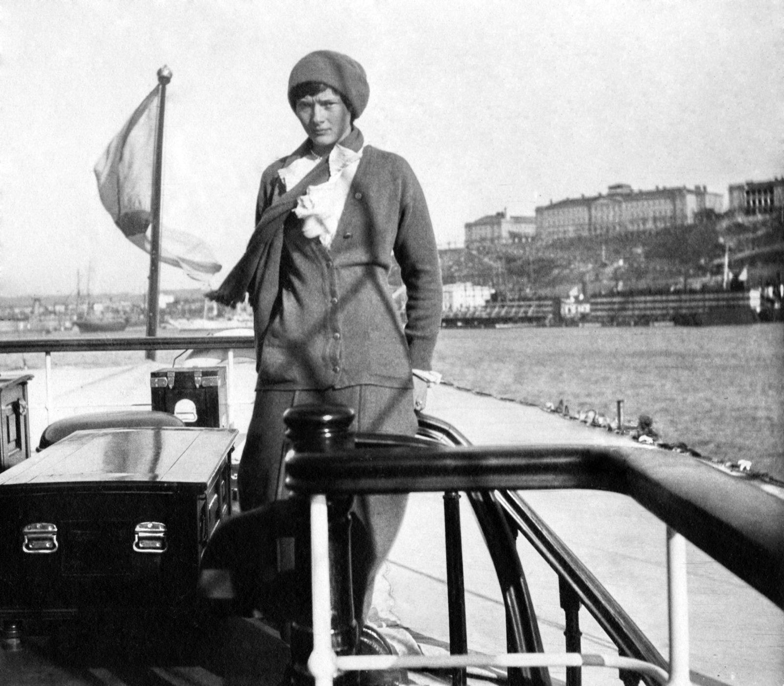"Grand duchess Tatiana on board of ""Standart "" . 1914."