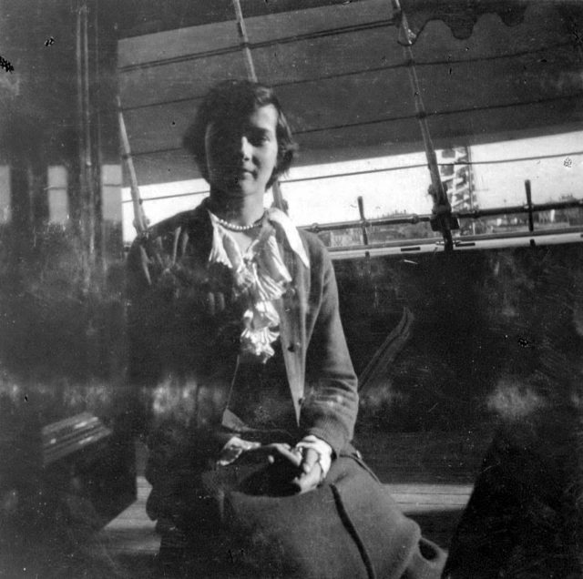 "Grand Duchess Tatiana on board of ""Standart "". 1914."