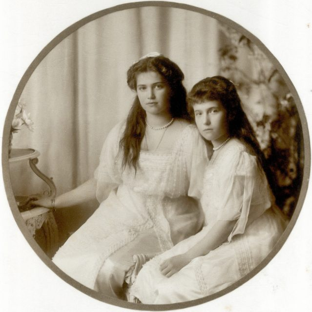 Grand Duchesses Maria and Anastasia. 1914.