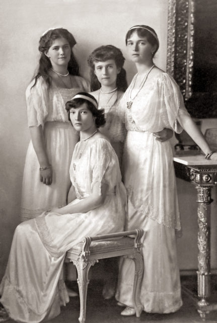 Grand Duchesses Maria,Tatiana,Anastasia,Olga.1914.