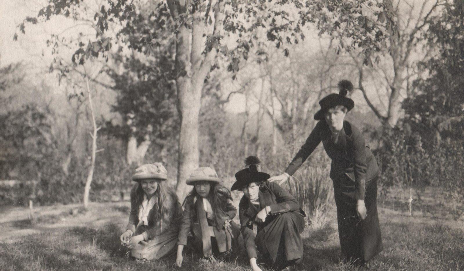 Grand Princess Mary, Anastasia, Tatiana and Olga. 1914 year.