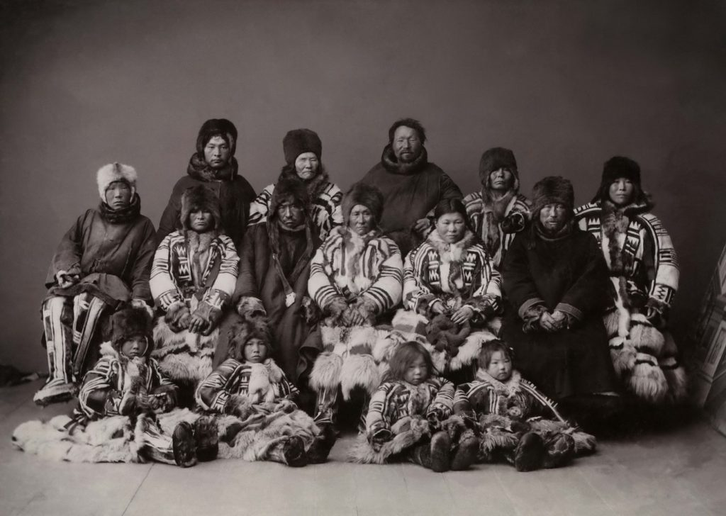 Group portrait of the Nenets - Arkhangelsk (Archangel)
