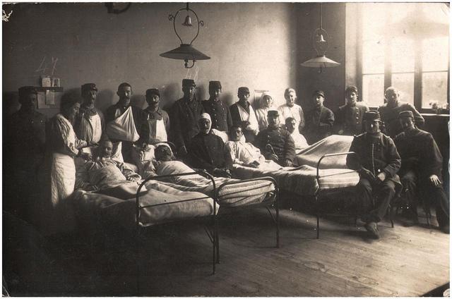 Hospital ward, Sainte Adresse, Le Havre, November 1914