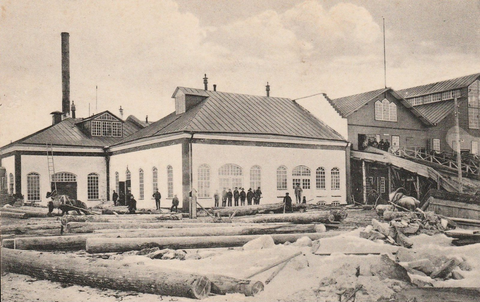 Maimaksa. Sawmill plant of brothers Valnevyh