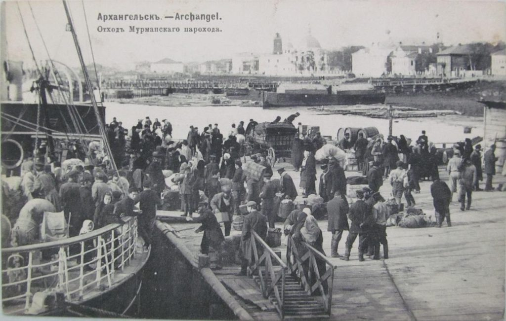 Murmansk steamer. Northern Dvina Embarkment. Arkhangelsk (Archangel)