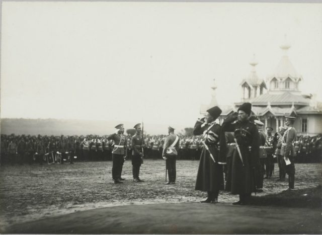 Nicholas II. Meeting of the Prime Minister of France Poincaré. Krasnoe Selo.