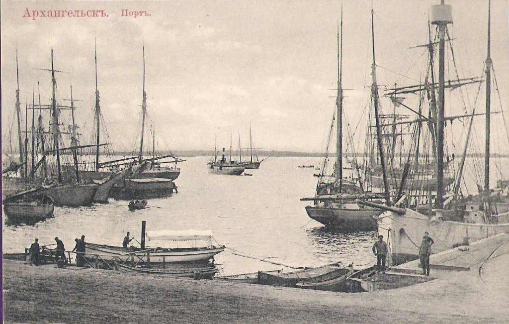 Northern Dvina and Ships. Arkhangelsk (Archangel)