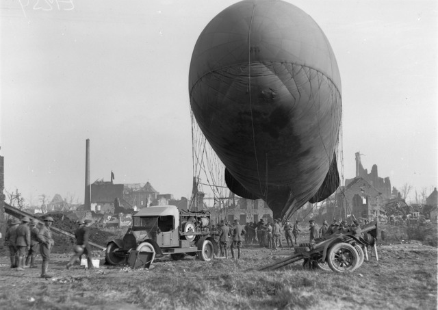Observation balloon ready to ascend