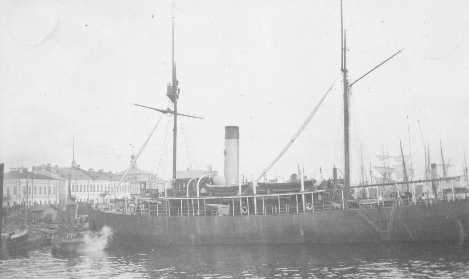 Steamer in the Port of Arkhangelsk