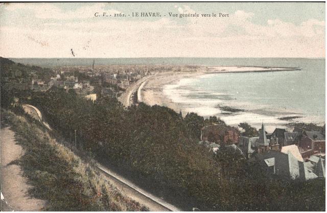 "Postcard of Le Havre ""Vue generale vers le Port"" sent November 1914"