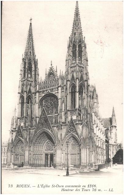Postcard of L'eglise St Ouen, Rouen, France
