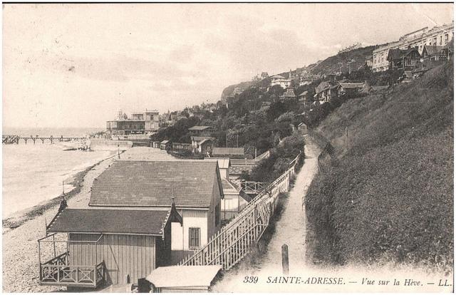 Postcard of Sainte Adresse, Le Havre, sent November 1914