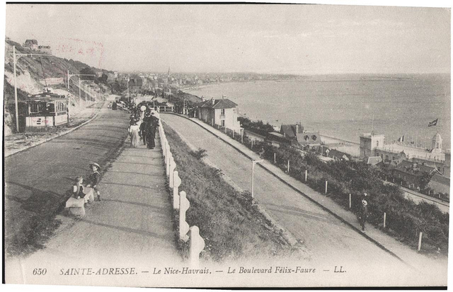Postcard: Sainte Adresse, Le Havre, France, December 1914