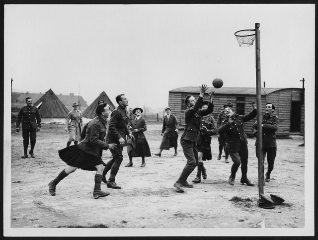 Recovering soldiers play basketball