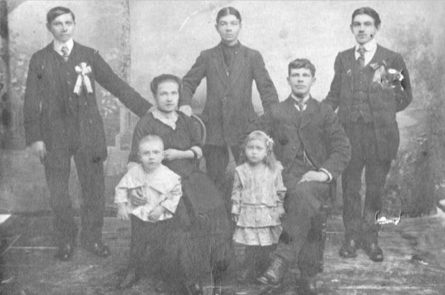 Family with kids. Onega, Arkhangelsk region, Russia, White Sea.