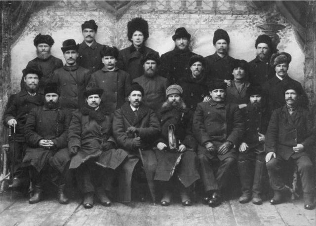 Group portrait. Onega, Arkhangelsk region, Russia, White Sea.