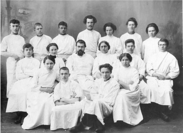 Students of Onega, Arkhangelsk region, Russia, White Sea.
