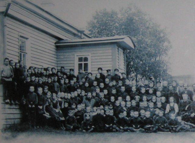 School of Onega, Arkhangelsk region, Russia, White Sea.