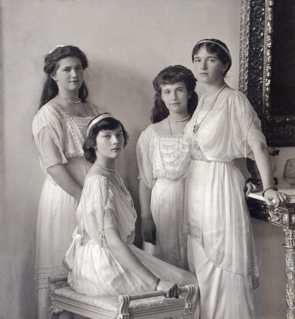 The Grand Duchesses Olga, Tatiana, Maria and Anastasia.