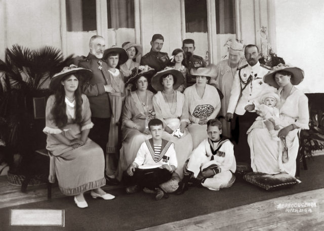 The Romanov Family in Constanta, Romania, June 1914.