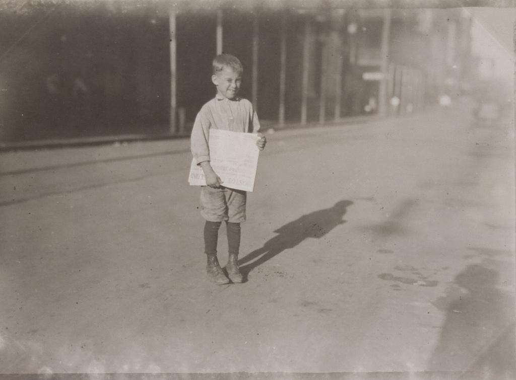 Young Newsboy, Mobile, Alabama - Oct.