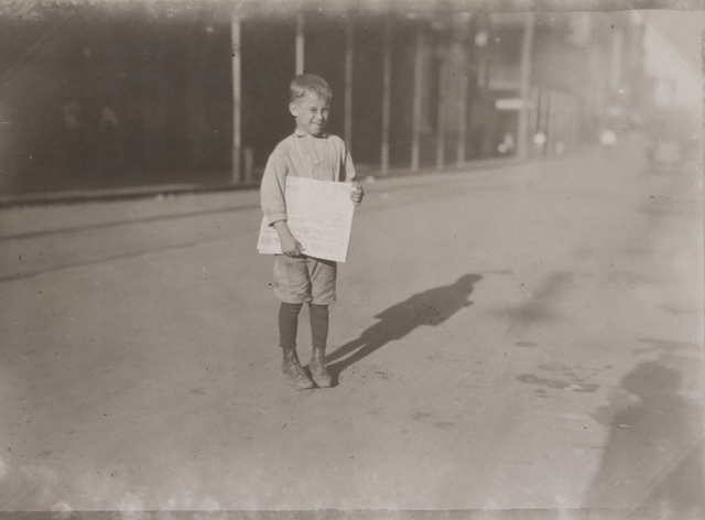 Young Newsboy, Mobile, Alabama - Oct.