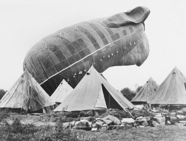A Royal Flying Corps observation balloon