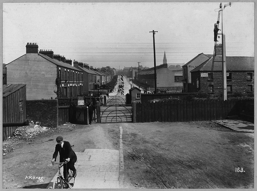 B.C.A. 1911 General View of Tate's Avenue from Great Northern Railway to Lisburn Road