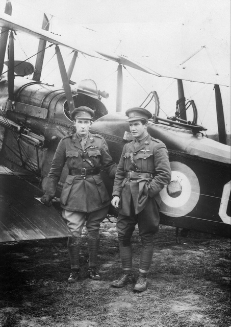 Captain Charles C Matheson and Lieutenant C R Fenwicke