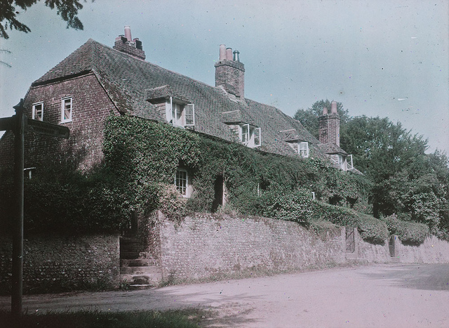 Early Paget Process colour image - identified as Corhampton, Hampshire, c. 1915