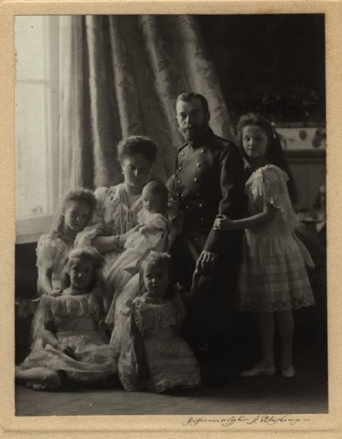 Emperor of Russia Nikolay II and Empress Alexandra Feodorovna family portrait