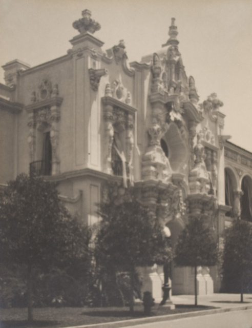 Entrance to Varied Industries Building (Panama-California Exposition)