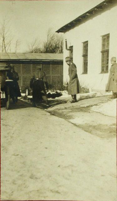 Grand Duke Alexander Mikhailovich visits the squadron of heavy bombers Ilya Muromets.