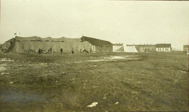Hangar for storage of heavy bomber Ilya Muromets.