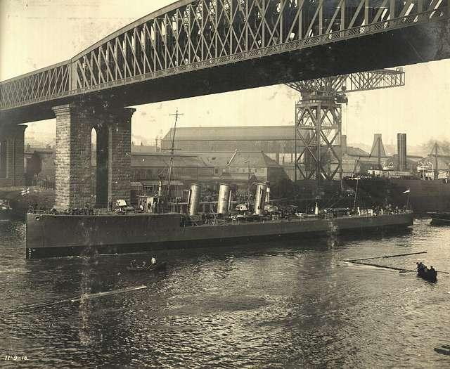 HMS Opal afloat on the River Wear