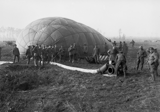 Inflating an observation balloon