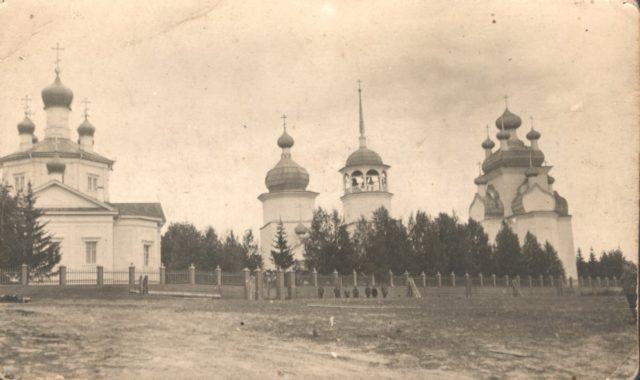 Kiy Island Cathedral of the Exultation, Onega, Arkhangelsk region, Russia, White Sea.