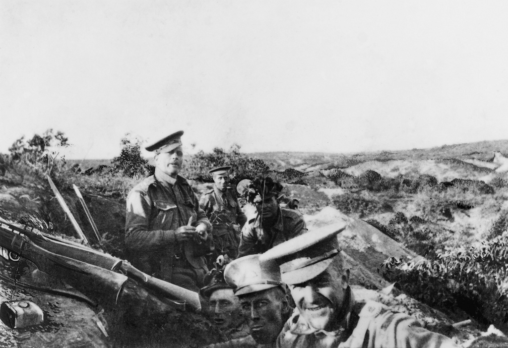 Members of 13th Battalion, AIF, occupying Quinn's Post, 25 April 1915