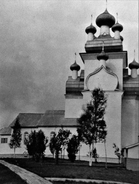 Neighborhoods of Onega. Chekuevo. Church of the Transfiguration