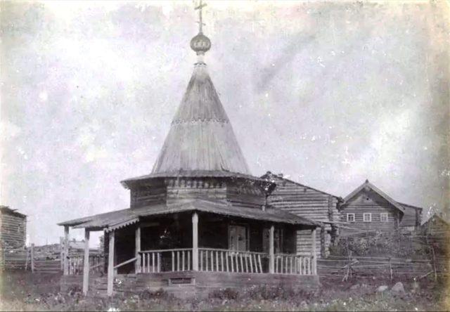 Wooden church, Onega, Arkhangelsk region, Russia, White Sea.