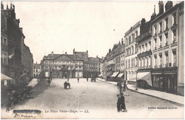 Postcard: St Omer - La Place Victor-Hugo, sent June 1915