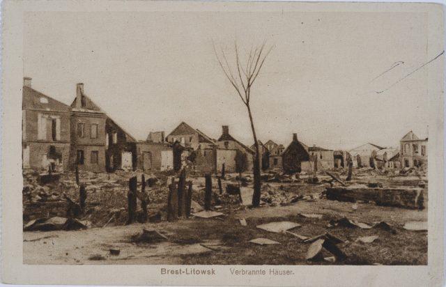 Results of Brest-Litovsk siege during WWI, 1915