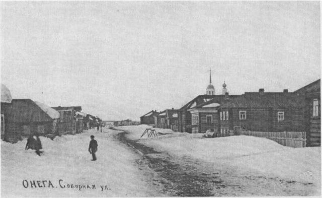 Sobornaya st., Onega, Arkhangelsk region, Russia, White Sea.