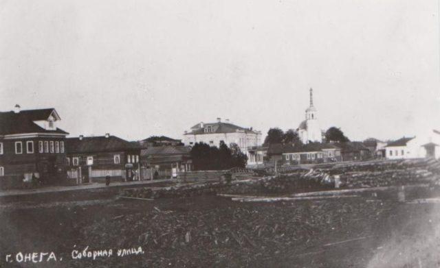 View of Onega, Arkhangelsk gibernia, Russia