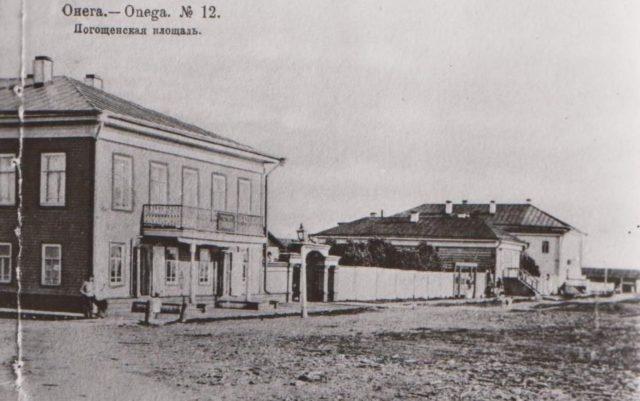 Pogoschenskaya sq. Onega, Arkhangelsk region, Russia, White Sea.