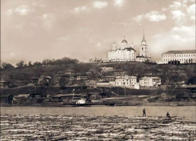 View of Vladimir from Klyazma.