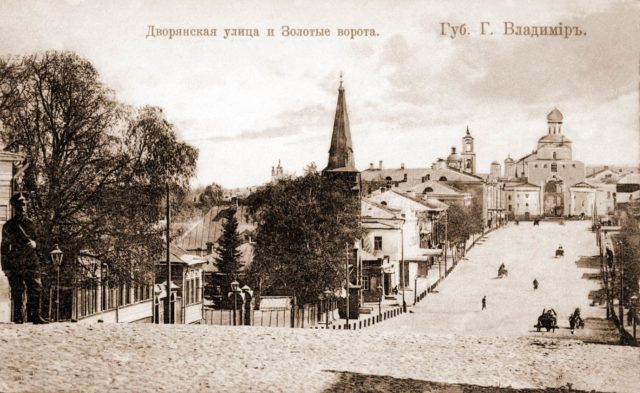 Vladimir, The Dvoryanskaya Street and Golden Gate