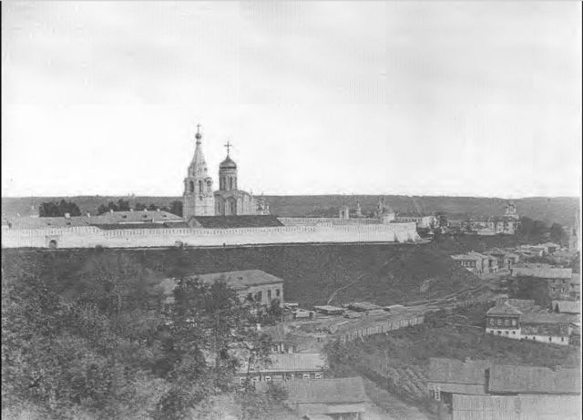 Vladimir. View from the eastern part of the city to the Nativity Monastery. 1876 - 1881