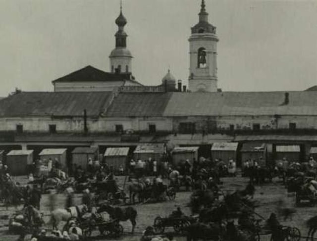Vladimir - View from the Market Square at Pyatnitskaya Church